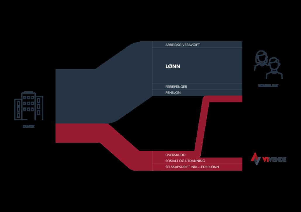 Grafisk fremstilling av Vivende-modellen